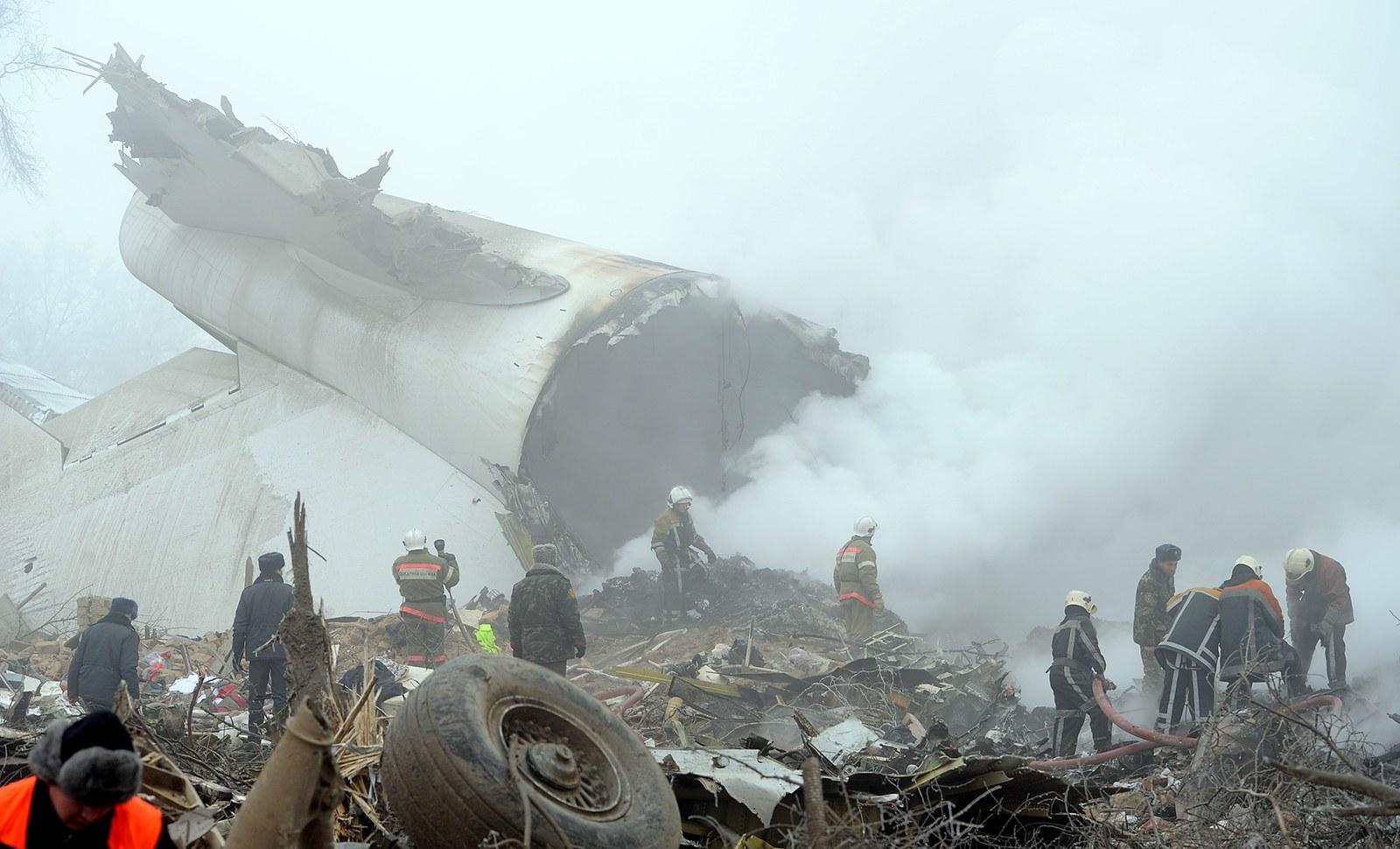 Турецкий самолет упал нажилые дома— Авиакатастрофа вКиргизии
