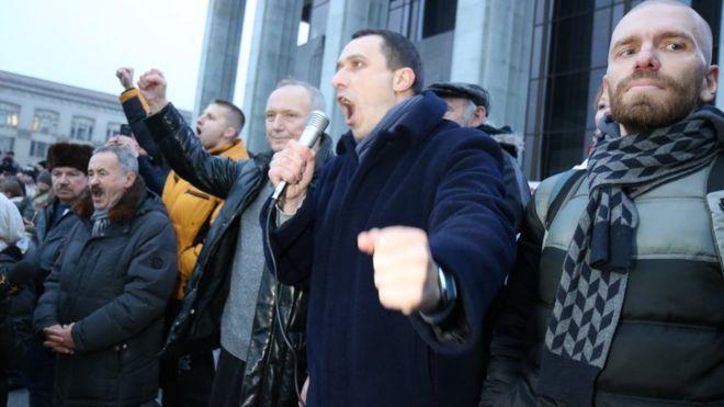 ВМинске наакцию протеста против налога натунеядство вышли тысячи несогласных
