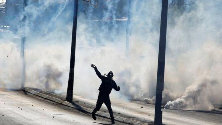 ВИерусалиме 12 палестинцев пострадали встычках сизраильской полицией