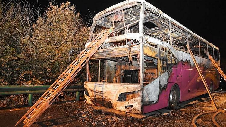 Автобус с туристами загорелся в Китае. Жертвами стали 26 человек