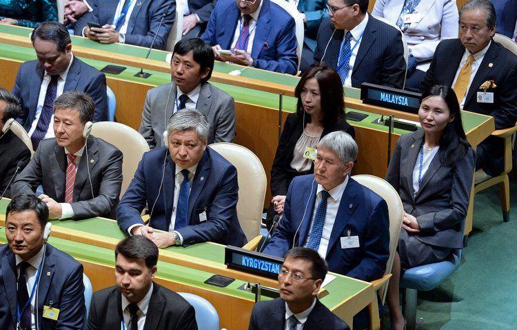 Атамбаев учавствует вработе 72-й Генеральной ассамблеи ООН