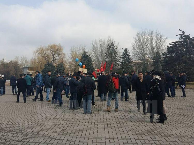 ВБишкеке задержаны некоторые участники марша протеста