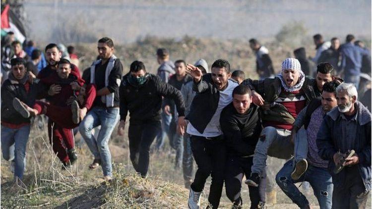 ВРиме сотни палестинцев протестуют против решения Трампа поИерусалиму